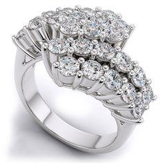 Diamantring mit 1.25 Karat Diamanten in 585er Weißgold. Ein Diamantring von www.juwelierhausabt.de