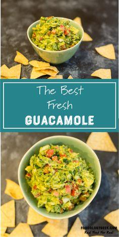 The Best Homemade Guacamole http://www.foodologygeek.com/guacamole/?utm_campaign=coschedule&utm_source=pinterest&utm_medium=Foodology%20Geek&utm_content=The%20Best%20Homemade%20Guacamole SUPER EASY, FRESH AND TASTY GUACAMOLE.