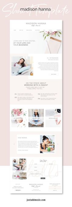 Madison Hanna Showit Template | Easy-to-customize Showit Website Templates for Female Entrepreneurs