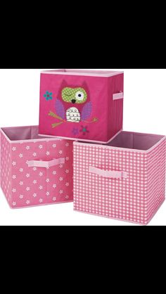 Canvas owl boxes £9.99 from Argos.