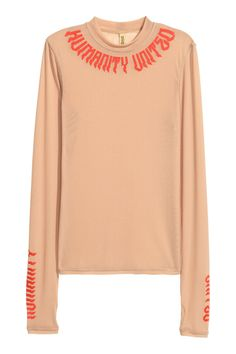 15e Camiseta de malla - Beige - MUJER | H&M ES 1
