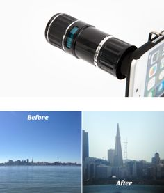 Give your phone a 12 times closer view! Photojojo's Telephoto Lens for iPhones helps you get up close and personal (but less creepily than that just sounded).