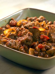 Red Chili Steak with Beans | This is a delicious, one-pot meal by Chef Rick Bayless. It's a very hearty and traditional dish to share with your family this time of year. The texture and substance of the steak and beans make this a perfect winter dish.
