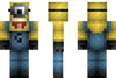 Minion – Despicable Me Minecraft Skin. I SOOO want this for my minecraft game!