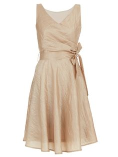 Fit-and-flare Dress Gold