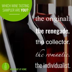 https://multibra.in/7rj4x Let's taste! Select a Sampler that speaks to you, invite your friends and we'll swirl & sip your wines at your Tasting. Your Wine Tasting Sampler includes 5 bottles of artisan wine for $29.95 (plus tax & shipping) and your Host Thank You Bottle. Check out my website for details on the options!