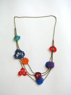 Multi motif necklace brights - moonbasket