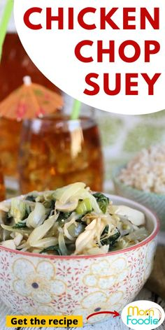 Chicken Chop Suey is an easy Chinese recipe you can make at home. Homemade Chinese Take-out!
