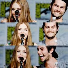 Find images and videos about teen wolf, dylan o'brien and holland roden on We Heart It - the app to get lost in what you love. Stiles Teen Wolf, Teen Wolf Stydia, Teen Wolf Dylan, Teen Wolf Cast, Teen Wolf Memes, Lydia Martin, Dylan O'brien, Styles And Lydia, Maze Runer