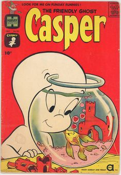 May 1961 The Friendly Ghost Casper 33 with Fish Kiss Cover Nice | eBay