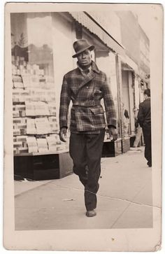 <> 1940's street style. Tall dark and handsome.