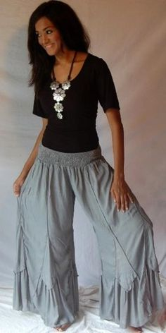 Gray Pant, I'd buy this right now if they were linen..