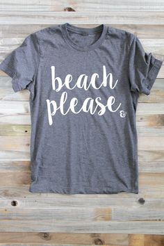 Beach Please Shirt Summer Shirts  Surfer Girl  Women's