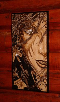 World of Warcraft Night Elf  woodburned by BrainStormingSession, $44.90