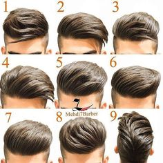 Same hair different hairstyles - HerrenMode - Cheveux Latest Hairstyles, Hairstyles Haircuts, Haircuts For Men, Barber Hairstyles, Barber Haircuts, Amazing Hairstyles, Fashion Hairstyles, Elegant Hairstyles, Short Hair Cuts