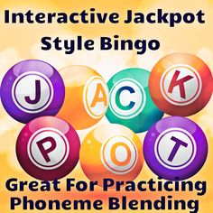 Free interactive bingo to practice vowel phonemes and different spelling patterns. Children will have a blast playing this jackpot style bingo!