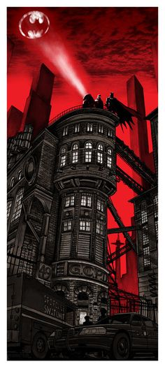 Batman 75th Anniversary (Red variant) by Tim Doyle