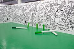 Get Inspired by This Tribute to Color Interactive Walls, Interactive Installation, Installation Art, Interactive Exhibition, Exposition Interactive, Kids Pop, Book Wall, Wall Drawing, Art Lessons Elementary