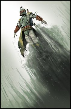 Boba Fett Blast Off by adventurevisual