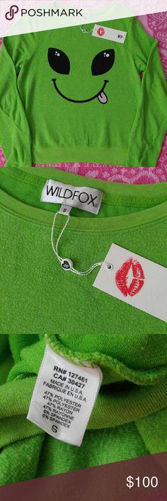 Brand New Wildfox Jumper Brand New Wildfox I Come in Peace BBJ  NWT Wildfox Sweaters Crew & Scoop Necks