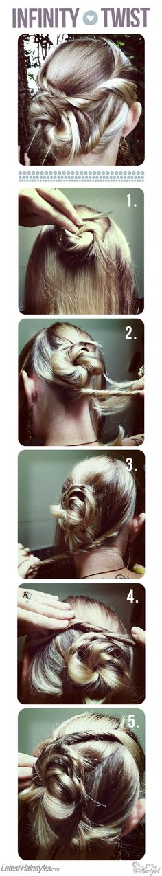 Infinity Twisted Bun Hair Tutorial. Hairstyle   Kenra Professional Inspiration