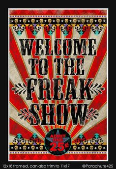 Image result for old school circus sign
