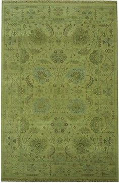 Genuine Hand Woven NEW Oushak 5' x 8' Rug PALE COLORS