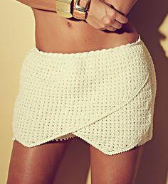 faça uma linda saia short seguindo  receita e gráfico