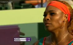 Serena Williams def. Yaroslava Shvedova 7-6, 6-2 in the 2nd rd of the Sony Open 2014. 3/20/14