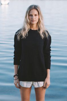 'Chester Jumper' in Navy bu Jude Australia Knitwear. Australian Made, 100% merino wool. Available from: http://www.judeaustralia.com/product/chester-jumper-navy/ #wool #merino #AustralianMade #JudeAustralia #jumper #winter