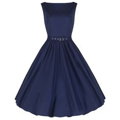 Navy Blue Cotton Audrey Swing Dress – Pretty Kitty Fashion