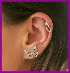 Ear Jewelry, Cute Jewelry, Body Jewelry, Jewelery, Jewelry Accessories, Jewelry Making, Jewelry Ideas, Bridal Jewelry, Jewelry Box