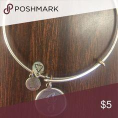 "Alex & Ani ""J"" charm sliver bracelet Alex & Ani ""J"" charm sliver bracelet Alex & Ani Jewelry Bracelets"