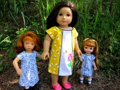 """Smocked (or not!) A-line dress pattern for AG/Sasha/Hearts for Hearts/AE (10""""-14""""-18"""" dolls)"""