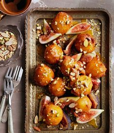 Orange caramel sticky doughnuts. Ooh, these look divine! I must give these a whirl one day.