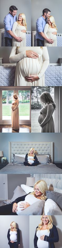 Maternity session posing ideas. Indoor home lifestyle baby bump photo shoot. Taken by Summer Arlint Photography in Prairie Village, KS