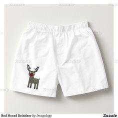 Red Nosed Reindeer Boxers