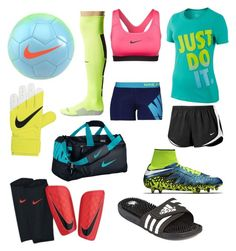 """""""Soccer Practice⚽️"""" by kschaefer181 ❤ liked on Polyvore featuring NIKE and adidas"""