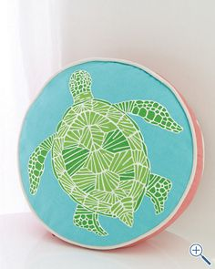 Lilly Pulitzer® Turtle Cove Pillow Cover from Garnet Hill! perfect for a Delta Zeta!