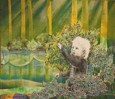 By: Satu Laaninen  Herkkupurkki: kollaasiHerkkupurkki: kollaasi pikkukimalainen.blogspot.com  drawing, portrait, boy, son, child, nature, forest, collague