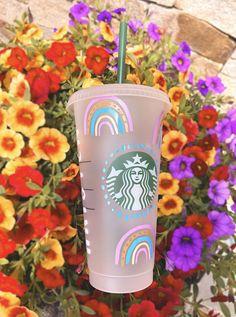 Starbucks Cup Design, Starbucks Tumbler Cup, Personalized Starbucks Cup, Custom Starbucks Cup, Personalized Cups, Starbucks Drinks, Cold Coffee Drinks, Coffee Cup Design, Custom Cups