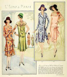McCall patterns in 1931 Vestidos Vintage, Vintage Dresses, Vintage Outfits, 1930s Fashion, Retro Fashion, Vintage Fashion, Vintage Ladies, Retro Vintage, Vintage Woman