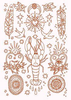 Wake/sleep Yabby by // Tattoo Sketches, Tattoo Drawings, Art Drawings, Drawing Art, Dessin Old School, Handpoke Tattoo, Tattoo Flash Art, Desenho Tattoo, Ink Art