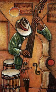 Your Source for Fine Black Art Prints and Posters by African American Artists, other Ethnic and Decorative Prints and and Posters at Everyday Discount Prices. Music Painting, Art Music, African American Artist, African Art, Music Drawings, Art Drawings, Cuban Art, Jazz Art, Blue Art