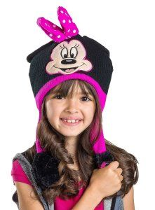 Disney Minnie Mouse Black and Pink Flipeez Hat b94afec97813