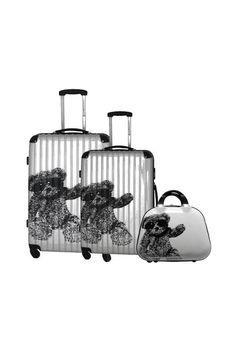 Lulu Castagnette suitcases + beauty-case #valise #valises #sacdevoyage #sacvoyage #bagages #lemondedubagage