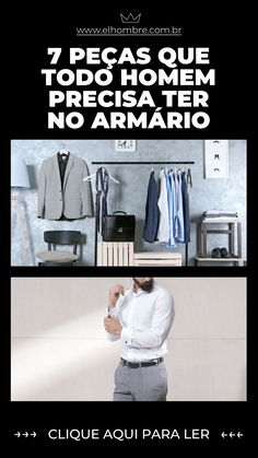 peças, armário, estilo, moda masculina Man Style, Wardrobe Rack, Mens Fashion, Beauty Tips For Men, Moda Masculina, Men Clothes, How To Dress Cool, Male Style, Men
