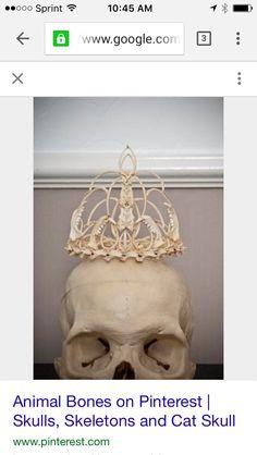 Memento Mori bone crown tiara wedding ornament,goth,fantasy Memento Mori bone crown tiara wedding by MementoMoriUK Memento Mori, Crane, Bone Crafts, Bone Jewelry, Animal Bones, Sculpture, Tiaras And Crowns, Skull And Bones, Nerd