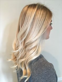 Ice blonde balayage!
