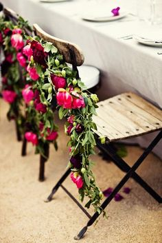 Floral seating arrangements